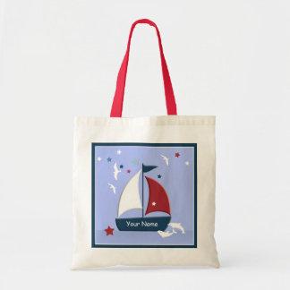 Sailboat Design Cute Nautical Go Bag