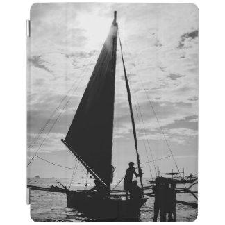 Sailboat Docked On The Shore iPad Cover