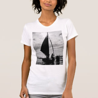 Sailboat Docked On The Shore T-Shirt