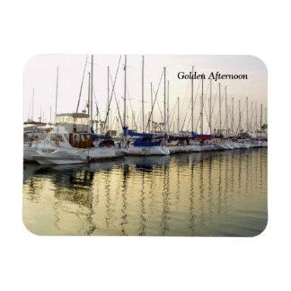 Sailboat & Golden Ocean Reflection Rectangular Photo Magnet