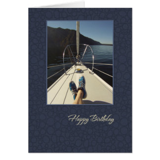 Sailboat Happy Birthday Card