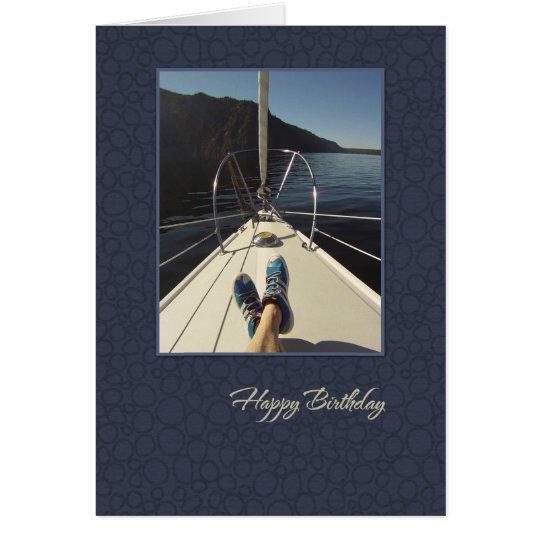 Sailboat Happy Birthday Card
