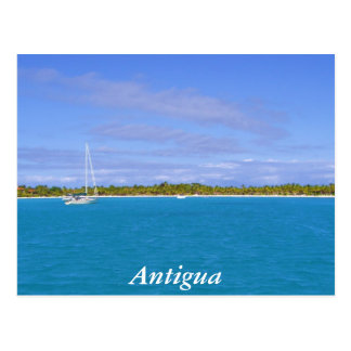 sailboat in Antigua Postcard