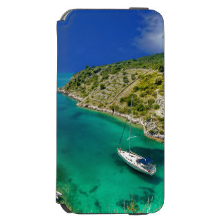 Sailboat in Emerald Green Ocean Incipio Watson™ iPhone 6 Wallet Case