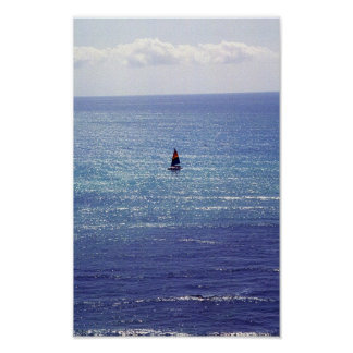 Sailboat in Honolulu, Hawaii Poster