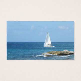 Sailboat in the Ocean Business Card