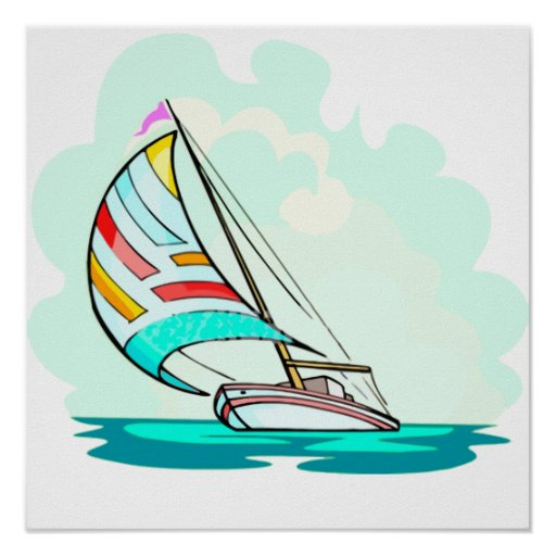 Sailboat in the Wind Print