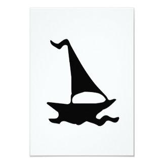 Sailboat 9 Cm X 13 Cm Invitation Card