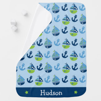 Sailboat Nautical Baby Blanket