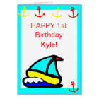 Sailboat Nautical Birthday Card
