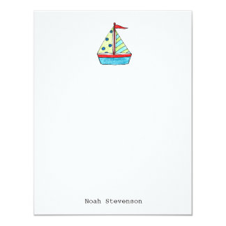 Sailboat Note Cars Card