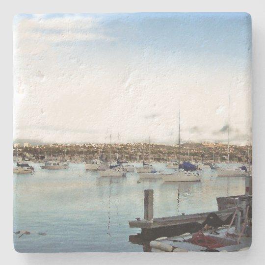 Sailboat Ocean Harbour Sailing Boat Stone Coaster