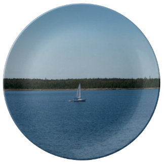 Sailboat on Lake Ontario Porcelain Plates
