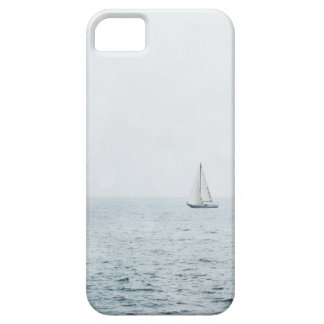 Sailboat on Misty Blue Ocean Water Sail Boats iPhone 5 Covers
