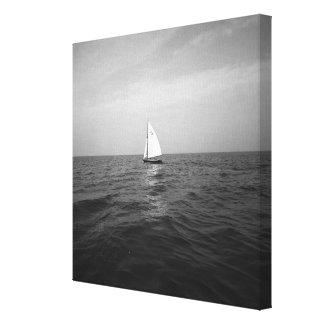 Sailboat on ocean canvas print