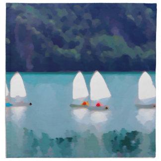 sailboat on the lake napkin