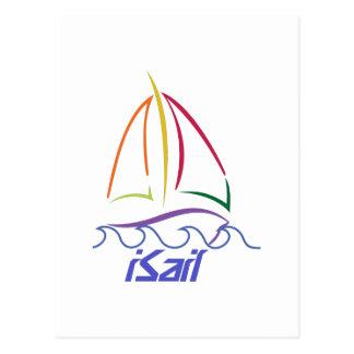 Sailboat Outline Postcard