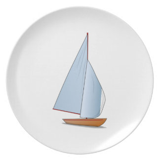 Sailboat Party Plate