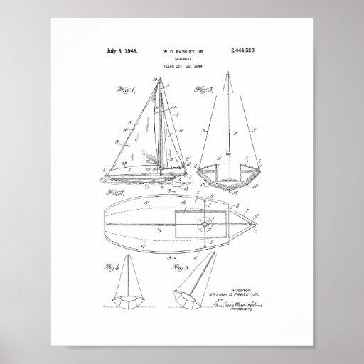 Sailboat Patent Poster