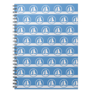 Sailboat pattern custom color notebook
