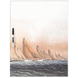 Sailboat Race 1854 Yachts Boats Dry Erase Board