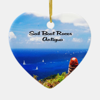 Sailboat races in Antigua Ceramic Heart Decoration