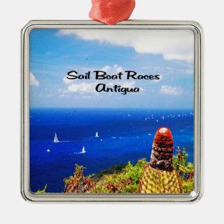 Sailboat races in Antigua Christmas Ornaments