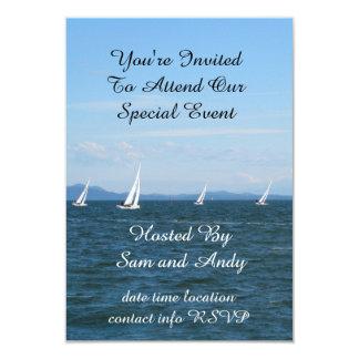 Sailboat Races 9 Cm X 13 Cm Invitation Card