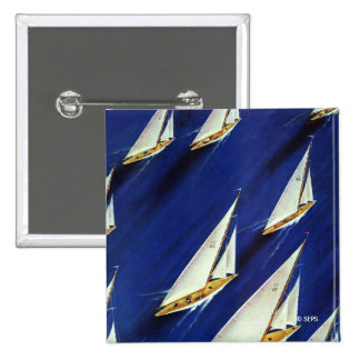 Sailboat Regatta by Ski Weld 15 Cm Square Badge