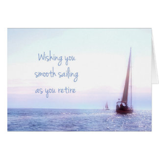 Sailboat Retirement Greeting Card
