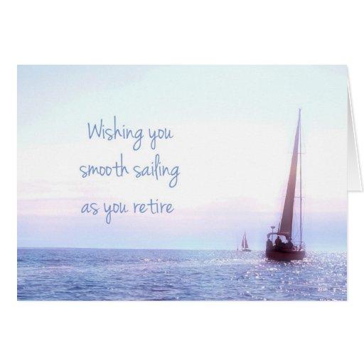 Sailboat Retirement Greeting Card