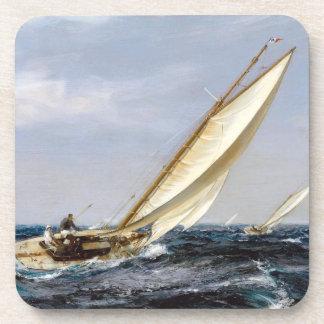 Sailboat Sailing Ocean Boat Seas Coaster