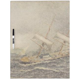 Sailboat Sailing Ship Boat Swells Dry Erase Board