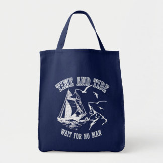 Sailboat Sailor Time and Tide Tote Bag