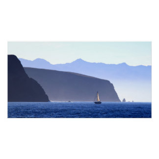 Sailboat Santa Cruz Island Poster