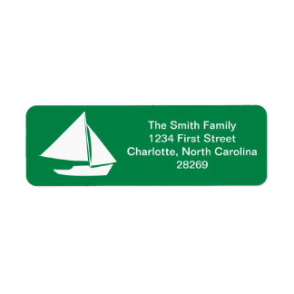 Sailboat Silhouette Nautical Return Address