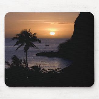 Sailboat Sunset Mousepad (Vertical)