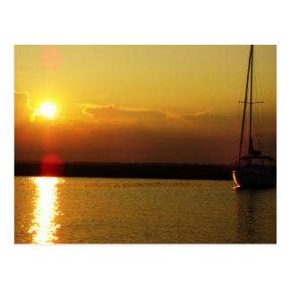 Sailboat Sunset Postcard