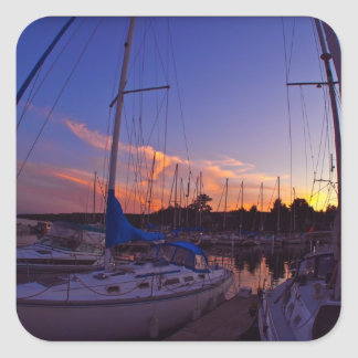 Sailboat Sunset Sticker