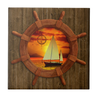 Sailboat Sunset Tile