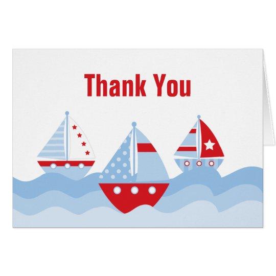 Sailboat Thank You Card