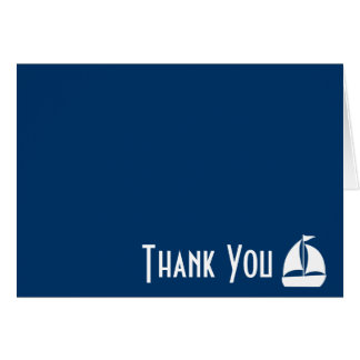 Sailboat Thank You Note Cards (Dark Blue)
