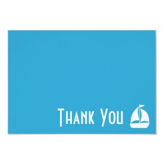 Sailboat Thank You Note Cards (Pale Blue) 9 Cm X 13 Cm Invitation Card