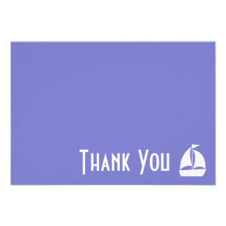 Sailboat Thank You Note Cards Plum Purple Announcement