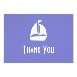 "Sailboat Thank You Note Cards (Plum Purple) 3.5"" X 5"" Invitation Card"