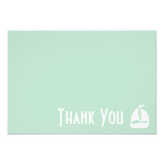 Sailboat Thank You Note Cards Sage Green Personalized Announcements