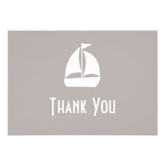Sailboat Thank You Note Cards Sand Personalized Invitation