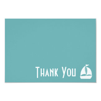 Sailboat Thank You Note Cards (Sea Foam Green) Personalized Invitations