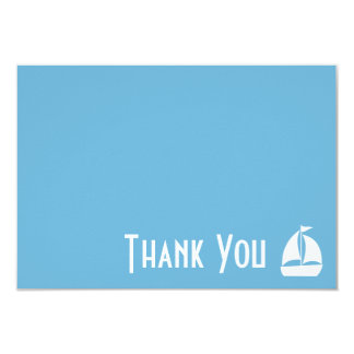 Sailboat Thank You Note Cards (Sky Blue) 9 Cm X 13 Cm Invitation Card