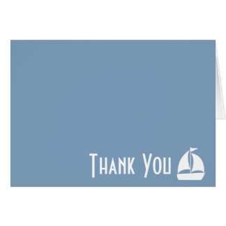 Sailboat Thank You Note Cards (Steel Blue Gray)